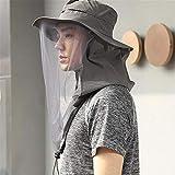JHKGY Gorra Protectora UV,Sombrero De Apicultor Apicultor/Sombrero De Cubo De Protección Solar,Sombrero Insecto Mosquito/Escudos Faciales Mesh Bug,para Exterior Unisex,Dark Gray