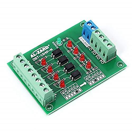AILOVA 4 bit Optoacoplador Aislamiento Módulo PLC Junta de Convertidor de Voltaje de Nivel de Señal de 24V a 24V/5V a 24V/12V a 3.3V/24V a 3.3V/24V a 5V (12V a 3.3V) (24V a 5V)