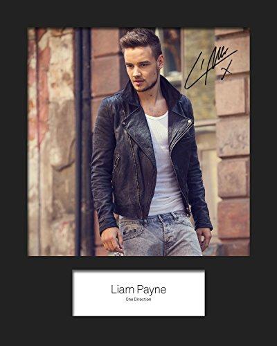Liam Payne - One Direction #1   Foto montada, reimpresión de Firma   Tamaño 10x8 para Marcos de 10x8 Pulgadas   Máquina Cortada   Exhibición de la Foto   Presente, Regalo, Coleccionable