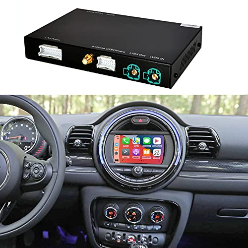 Road Top Retrofit Kit Decoder met Wireless CarPlay & Android Auto Mirror Link Navigatie voor BMW Mini Cooper One Hatch Clubman F55 F56 F54 F57 NBT-systeem 2014-2018 Jaar