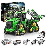 LINANNAN TECHNIC RC Tractor Controlado con Control Remoto 2.4 GHz Caterpillar Tractor Modelo de construcción Conjunto de Motores compatibles con Lego Technic Blocks Blocks Set
