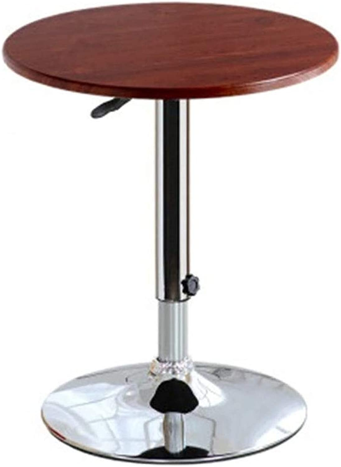 TJTG Simple Modern Small Round Table Lifting Table Coffee Table Leisure Table Round Balcony Dining Table Small Square Bar Home Office Desk (Size   60CM)