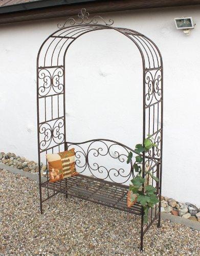 DanDiBo Rosenbogen mit Bank 120852 aus Metall 250 cm Gartenbank Spalier Pergola Kletterhilfe - 9