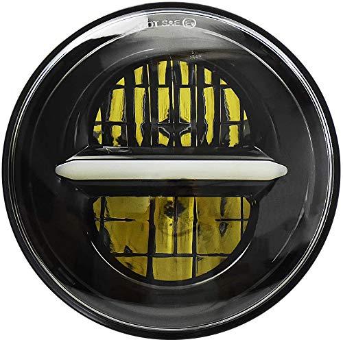Faros de proyección LED de 5,75 pulgadas, faros de motocicleta redondos en pulgadas con luces de circulación diurna redondas. (negro)