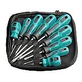 MIBYUZST Juego de destornilladores, 9 piezas de tornillo torx, broca magnética en forma de cruz, mango aislado, kit de herramientas manual de reparación de múltiples funciones (9 piezas)
