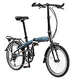 Schwinn Adapt serie de bicicleta plegable, ideal para montar en la ciudad y desplazarse, marco de aluminio ligero, guardabarros delantero y trasero, estante de transporte trasero y soporte de pata, incluye bolsa de transporte, ruedas de 20 pulgadas