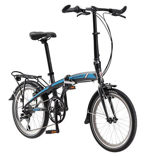 Schwinn Adapt 2 Folding Bike, 20-Inch Wheels, 8-Speed, Matte Charcoal