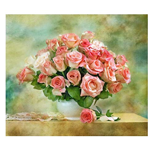 Justdolife DIY diamant schilderij elegante rozen patroon strass schilderij kruissteek
