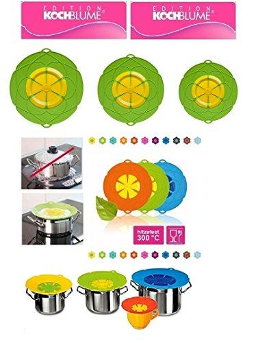 Cookline Kochblume 11 Farben 5 Größen Überkochschutz, Überkochstop, Spritzschutz