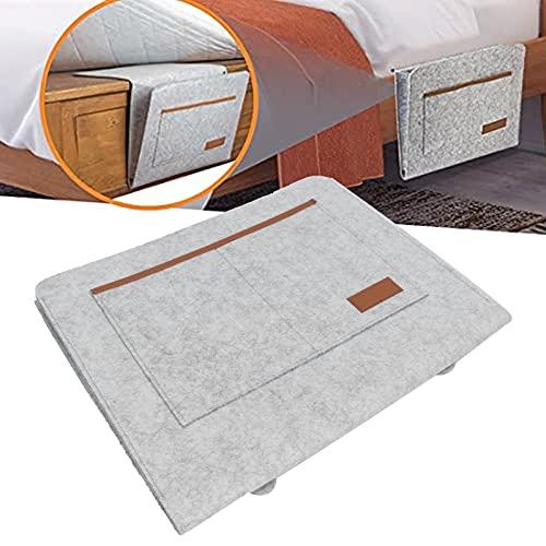 Liujaos Soporte para Colgar Junto a la Cama, fácil de Instalar Bolsa de Almacenamiento Junto a la Cama Puntadas reforzadas para dormitorios Familiares