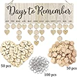 Family Birthday Board DIY Wooden Calendar Wall Hanging Birthday Reminder Plaque,with 100 wooden tags,Great Gift for Mom Grandma,Days to Remember