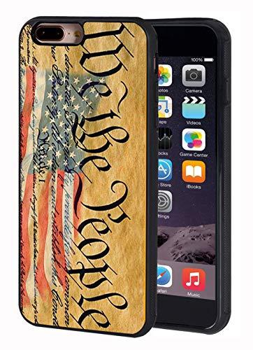 iPhone 7 Plus Case,iPhone 8 Plus Case,American Flag Constitution We The People Slim Anti Design Slim Impact Resistant Shock-Absorption Rubber Protective Case for iPhone 7 Plus/iPhone 8 Plus 5.5 inch