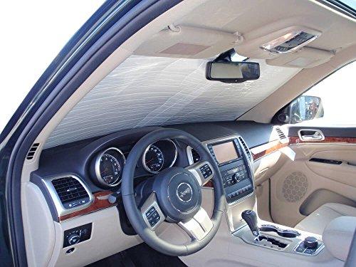 HeatShield, The Original Windshield Sun Shade, Custom-Fit for Jeep Grand Cherokee SUV w/o Sensor 2011-2021, Silver Series