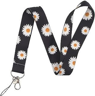 SHYPT Lanières de sangle de fleurs Col de fleurs Keychain Badge Porte-carte Pass Pass Hang Corde Laniat Laniard pour clés...