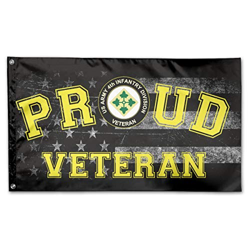 FFFlag-er Proud US Army 4th Infantry Division Veteran Flag 3x5 Foot