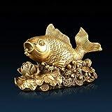Figuras Decoracion Salon Bronce feng shui riqueza arowana figurilla riqueza suerte prosperidad escultura fengshui...