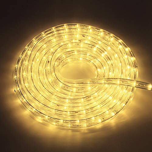 12Mete LED Lichterschlauch Lichtschlauch Lichterkette Licht Leiste 36LEDs/M und Außenbereich Lauflichter für Saal,Garten,Weihnachten,Hochzeit,Party Warmweiß Lichtschläuche(Warmweiß)