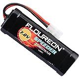 FLOUREON 7.2V 3500mAh NiMH RC Batterie Haute Performance Prise Tamiya Femelle pour Voiture RC, Avion, Robots, Haute Sécurité + Unique Design Coaster comme Cadeau