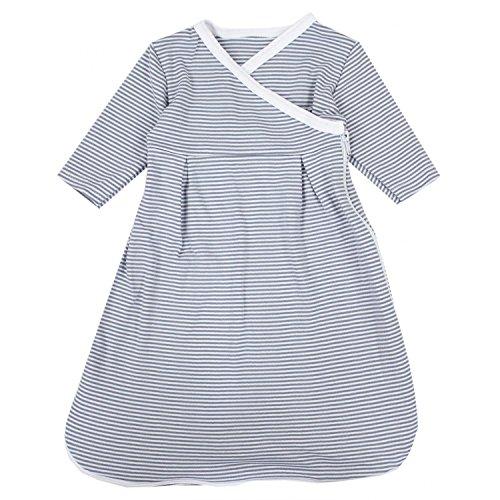 TupTam Baby Unisex Langarm Innenschlafsack, Farbe: Streifenmuster Grau, Größe: 50-56