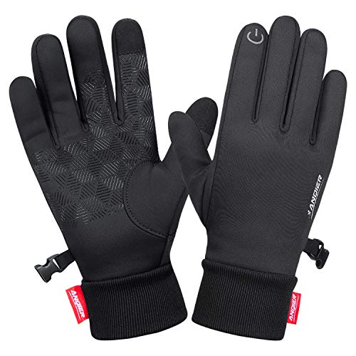 LANYI Winter Gloves Touchscreen Windproof Thermal Liner Gloves Running Outdoor Cycling Driving Thin...
