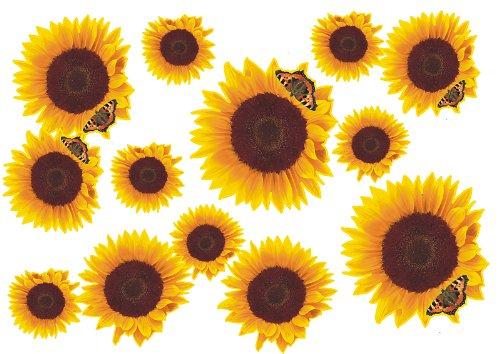 Autoaufkleber, Blumendesign: Flower Set 09-Mini-36 Stück