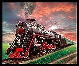 Train Steam Engine Fleece Throw Blanket 50' x 60'