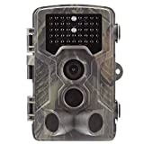 OUNDEAL Cámara de Caza, Trail Cámara 16MP 1080P HD IP66 Impermeable con 3 PIR Sensor 42pcs IR Leds Visión Nocturna hasta 20m para Fauna Seguridad Hogar Mascota Animal