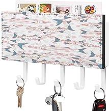 Clé murale - Crochet de clé mural, Porte-clé de courrier, Organisateur de clé de courrier, Motif de silhouette de requin ...