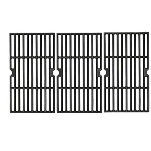 Uniflasy Cast Iron Cooking Grates for Kenmore 146.23678310 146.16132110 146.16153110 146.20164510 146.23679310 146.23681310 146.23766310, Dyna glo DGF493BNP DGF493PNP, 3 Pack Grill Grate for Kenmore