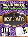Tattoo Transfer Paper - 100 Sheets Thermal Tattoo Stencil Paper 4 Layers 8 1/2' x 11' DIY Tattoo Supply Kit