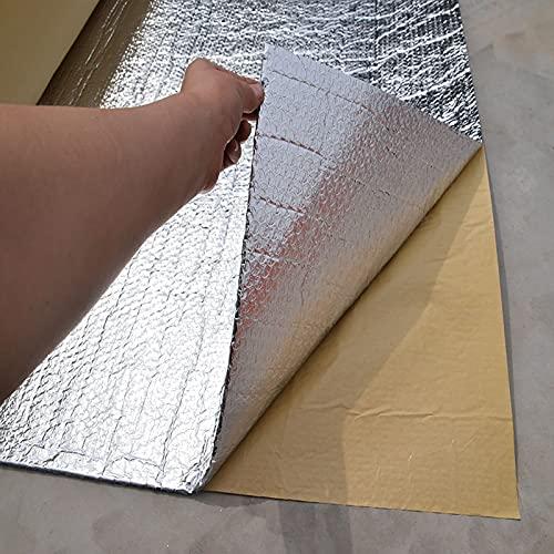 LPLND Isolierfolie Selbstklebend Isolierfolie Dämmfolie Doppelte Alu-Luftpolsterfolie Dachisolierung Isolierungsfolie Wärmehaltung isoliermatte Dicke 4mm Isolierung Isoliertapete (Size:1m*4m)