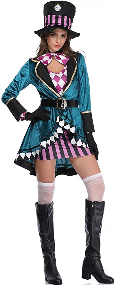 Alice in Wonderland Shipping included Clown Mad Hatter Discount mail order Women Adults Fa for Costume