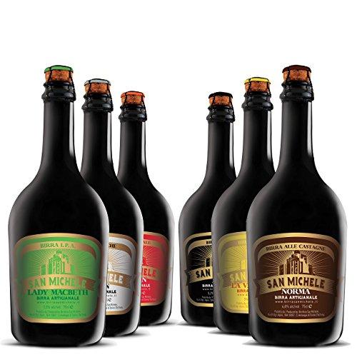 Scatola 6x0,75L Birra Artigianale San Michele - Selezione assortimento Super Premium 6 diversi stili