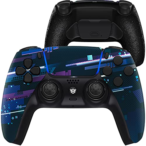 how to set up two factor authentication on ps5 HexGaming Esports Rival Controller 2 Mappable Rear Buttons & Interchangeable Thumbsticks & Hair Trigger for PS5 Controller Custom Controller PC Wireless FPS Gamepad - Blue Purple Magic Space