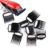 8 Pieces Hair Clipper Guards for Wahl, 1/8 to 1in Clipper Guard, Universal Clipper Comb Set with Metal Clip, Hair Cutting Combs Hair Clipper Attachments Barber Supplies for Hair Clippers