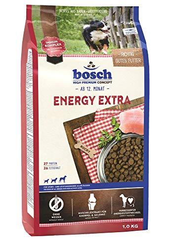 bosch HPC Energy Extra | Alimento seco para perros de deporte y rendimiento de todas las razas | 1 x 1 kg