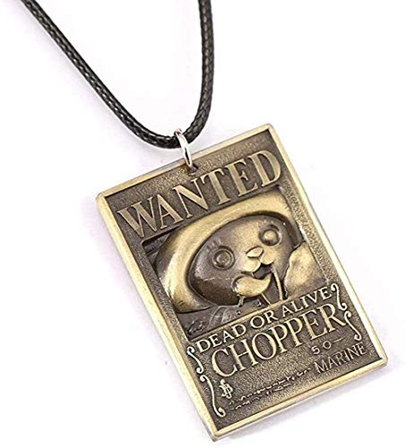 ZPPYMXGZ Co.,ltd Necklace Fashion Wanted Poster Chopper Necklace Money Order Pendant Necklace Friendship Men Women Anime Jewelry Choker Accessories