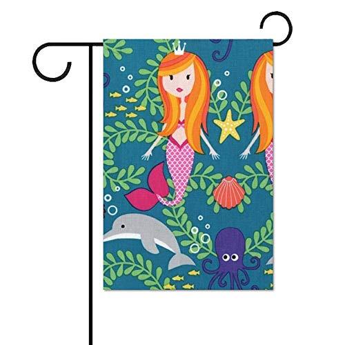 Tr674gs Garten-Flagge, 30,5 x 45,7 cm, Outdoor-Flagge, Medaillon, Spa-Stoff, Garten-Banner, Hofflagge, baumwolle, Flag-5, 28 x 40 Inch