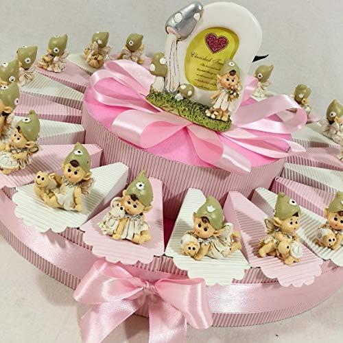 Sindy bruiloft gunsten 8054382130 Cake Party gunsten Ballerina op kussen, glanzende hars, roze, 4 X 3 X 4,5 cm