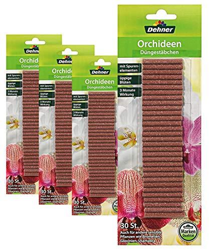 Dehner Düngestäbchen für Orchideen, 4 x 30 Stück (120 Stück)
