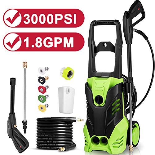 Fantastic Deal! Electric Pressure Washer, 3000 PSI 1.80 GPM 14.5-Amp Portable Power Washer Machine w...
