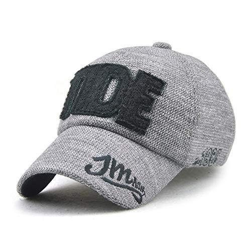wopiaol Herbst/Winter Baseballmütze Brief Outdoor-Hut Europäische und amerikanische Stickerei Männer und Frauen Mütze Wolle