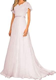 Dimei High Collor A line Lace Prom Dresses Tea-Length Tulle Bridesmaid Dress Sleeveless Formal Evening Dress