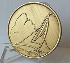 Wendells We Can't Control The Wind We Can Only Adjust Our Sails Bronze Sailing Medallion Chip