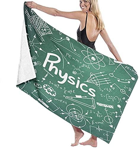 Toallas de playa de microfibra, teoría de la ciencia de la física y ecuación de fórmula matemática, escritura a mano y modelo icono, toalla de playa ligera, perfecta para viajes familiares