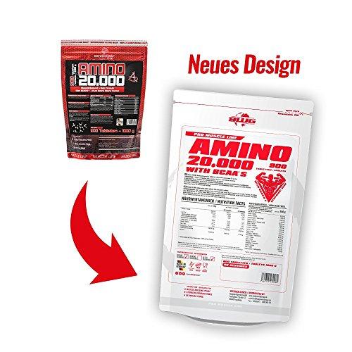 BWG Amino 20.000, Protein Tabletten, Muscle Line, 900 Tabletten, 1er Pack (1 x 1080g Beutel) - 6
