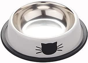 Morza Cachorro Gatito de Acero Inoxidable Comedero de Cat Dish Tazón Antideslizante para Gatos pequeños Perros