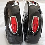 Motorcycle saddlebags Hard Saddle Bag Trunk w/Light for Honda Shadow 600 750 VLX Valkyrie VT F VTX LN