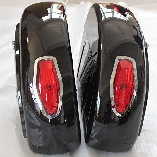 Motorcycle saddlebags Hard Saddle Bag Trunk w/Light for Honda Shadow...