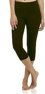 High Waisted Soft CapriLeggingsforWomen-Tummy Control and Elastic Opaque Slim-One/Plus Size 20+Design
